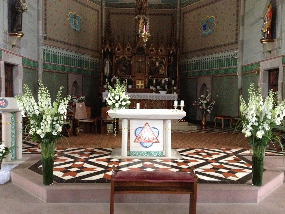 Blumenschmuck Fur Die Hochzeitskirche Blumengalerie Knorr Baden