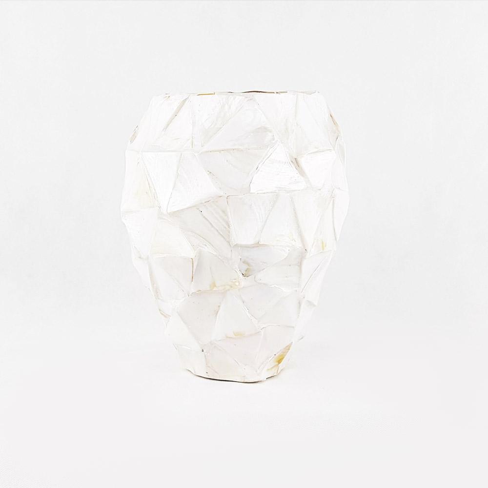 Vase Weiß Mit Perlmuttschimmer Blumengalerie Knorr